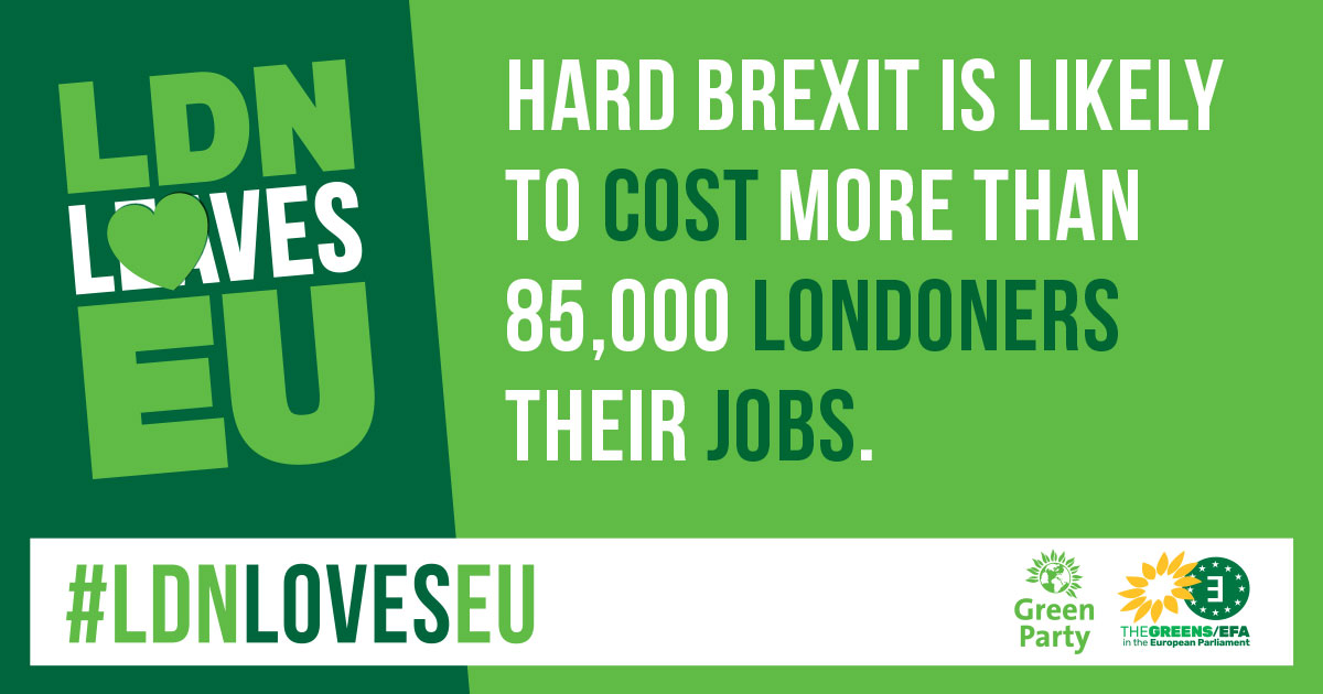 Meme -  Hard Brexit is likely to over 85,000 Londoners their jobs
